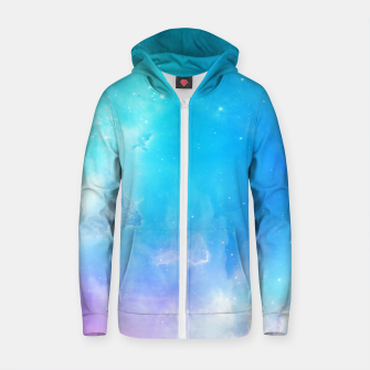 Miniatur Pastel galaxy Cotton zip up hoodie, Live Heroes