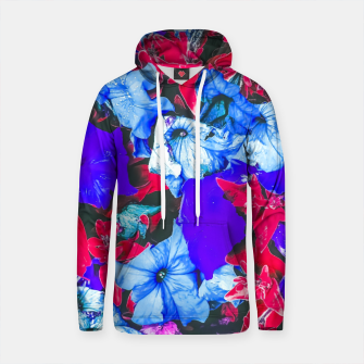 Thumbnail image of closeup flower texture abstract in blue purple red Cotton hoodie, Live Heroes