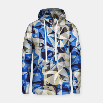 Thumbnail image of psychedelic geometric abstract pattern in blue and grey Cotton hoodie, Live Heroes