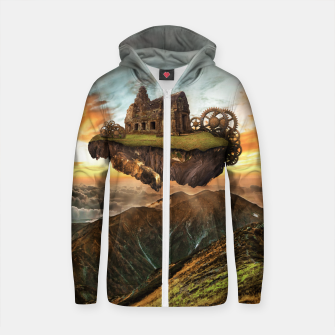 Thumbnail image of My Home in The Sky Cotton zip up hoodie, Live Heroes