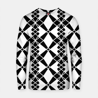 Miniaturka Abstract geometric pattern - black and white. Cotton sweater, Live Heroes