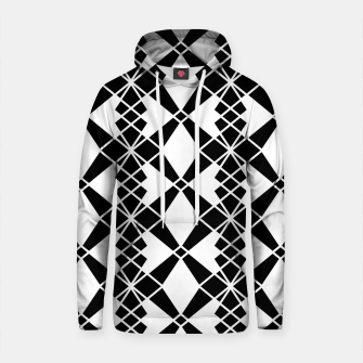 Miniaturka Abstract geometric pattern - black and white. Cotton hoodie, Live Heroes