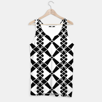 Miniaturka Abstract geometric pattern - black and white. Tank Top, Live Heroes