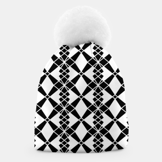 Miniaturka Abstract geometric pattern - black and white. Beanie, Live Heroes