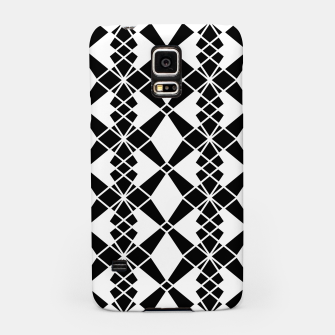 Miniaturka Abstract geometric pattern - black and white. Samsung Case, Live Heroes