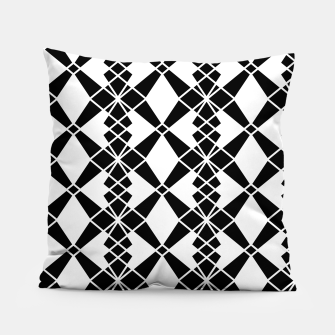 Miniaturka Abstract geometric pattern - black and white. Pillow, Live Heroes