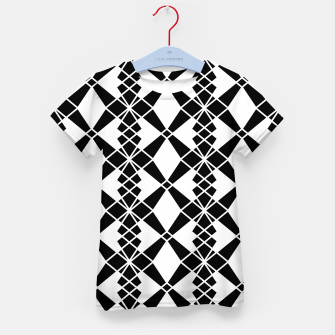 Miniaturka Abstract geometric pattern - black and white. Kid's t-shirt, Live Heroes