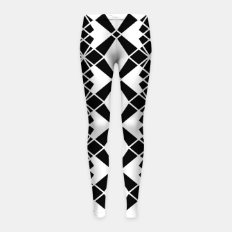 Miniaturka Abstract geometric pattern - black and white. Girl's leggings, Live Heroes
