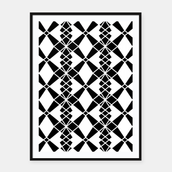 Miniaturka Abstract geometric pattern - black and white. Framed poster, Live Heroes