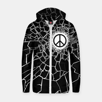 Peacebreaker Cotton zip up hoodie thumbnail image