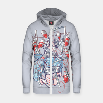 Miniaturka dying inside 1 Cotton zip up hoodie, Live Heroes