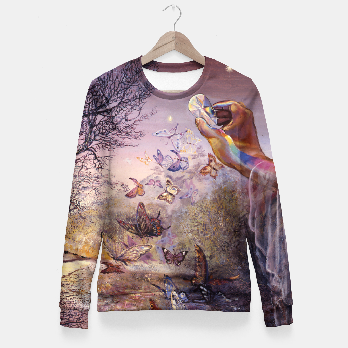 Image of Crystal Waters Woman cotton sweater - Live Heroes
