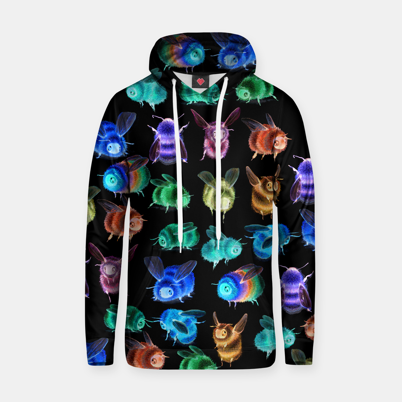 Image of Inverse Bee Hooded Sweater - Live Heroes