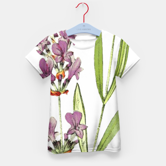 Thumbnail image of Kids tshirt with Pink Flowers on white, Live Heroes
