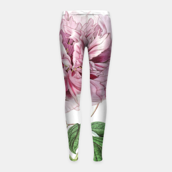 Thumbnail image of Girls leggings with Pink flowers, Live Heroes