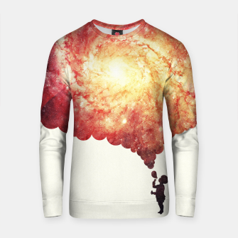 Thumbnail image of The universe in a soap-bubble! (Awesome Space / Nebula / Galaxy Negative Space Artwork) Cotton sweater, Live Heroes