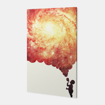 Thumbnail image of The universe in a soap-bubble! (Awesome Space / Nebula / Galaxy Negative Space Artwork) Canvas, Live Heroes