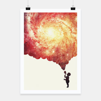Miniatur The universe in a soap-bubble! (Awesome Space / Nebula / Galaxy Negative Space Artwork) Poster, Live Heroes