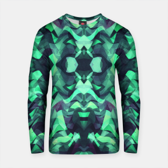 Thumbnail image of Abstract Surreal Chaos theory in Modern poison turquoise green Cotton sweater, Live Heroes