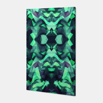 Thumbnail image of Abstract Surreal Chaos theory in Modern poison turquoise green Canvas, Live Heroes