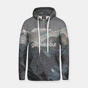 Miniaturka glitched out Cotton hoodie, Live Heroes