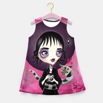 Miniatur Lydia Deetz Girl's summer dress, Live Heroes