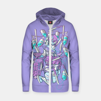 Miniature de image de dying inside 2 Cotton zip up hoodie, Live Heroes