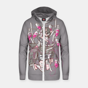 Miniature de image de dying inside 3 Cotton zip up hoodie, Live Heroes