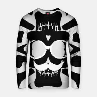 Miniature de image de old funny skull with glasses art portrait in black and white Cotton sweater, Live Heroes