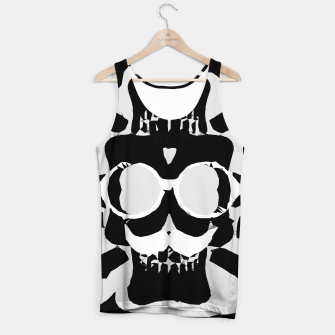 Miniature de image de old funny skull with glasses art portrait in black and white Tank Top, Live Heroes
