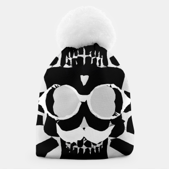 Miniature de image de old funny skull with glasses art portrait in black and white Beanie, Live Heroes