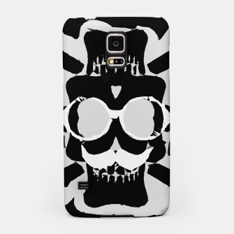 Miniature de image de old funny skull with glasses art portrait in black and white Samsung Case, Live Heroes