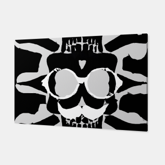 Miniature de image de old funny skull with glasses art portrait in black and white Canvas, Live Heroes
