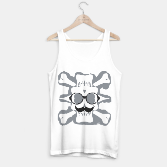 Thumbnail image of old funny skull art portrait in black and white Tank Top regular, Live Heroes