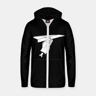 Thumbnail image of HIGHER Cotton zip up hoodie, Live Heroes