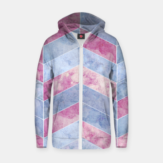 Thumbnail image of Geometric Geode M Cotton zip up hoodie, Live Heroes