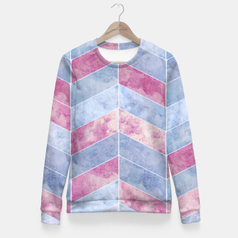 Thumbnail image of Geometric Geode M Woman cotton sweater, Live Heroes