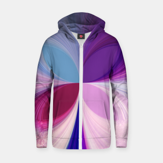 Thumbnail image of Pinkish delight Cotton zip up hoodie, Live Heroes