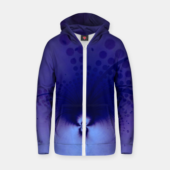 Thumbnail image of Travelling through my imagination Cotton zip up hoodie, Live Heroes