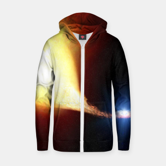 Miniaturka Explosive supernova Cotton zip up hoodie, Live Heroes