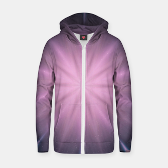 Thumbnail image of Wormhole star Cotton zip up hoodie, Live Heroes