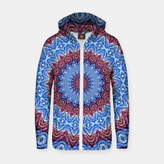 Thumbnail image of Blue mandala Cotton zip up hoodie, Live Heroes