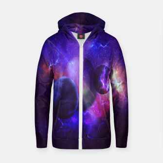 Thumbnail image of Planetary wings  Cotton zip up hoodie, Live Heroes