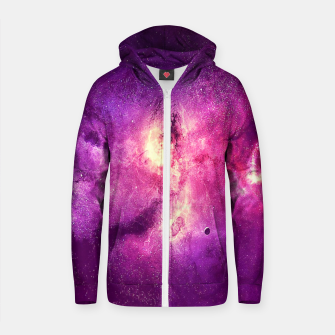 Thumbnail image of Galaxia  Cotton zip up hoodie, Live Heroes