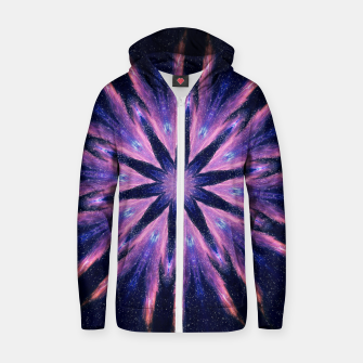Thumbnail image of Sunset mandala Cotton zip up hoodie, Live Heroes