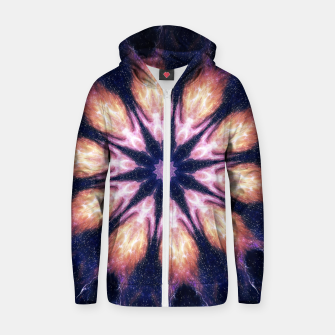 Thumbnail image of Lightening mandala Cotton zip up hoodie, Live Heroes