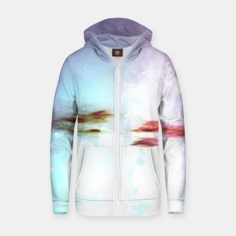 Pastel moon  Cotton zip up hoodie thumbnail image