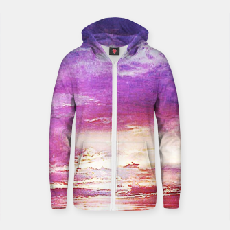 Thumbnail image of Sunset skies Cotton zip up hoodie, Live Heroes