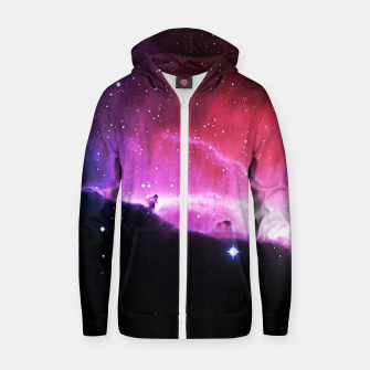 Thumbnail image of Nebulae Cotton zip up hoodie, Live Heroes