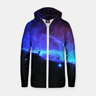 Thumbnail image of Nebulae 2 Cotton zip up hoodie, Live Heroes